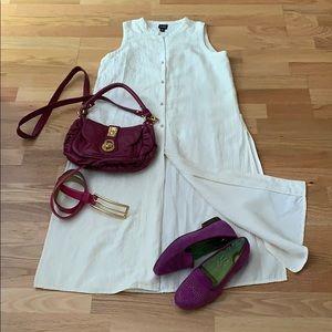 Dresses & Skirts - Eileen Fisher Silk dress long vest cover up